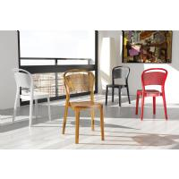 Bee Polycarbonate Dining Chair Glossy Black ISP021-GBLA - 11