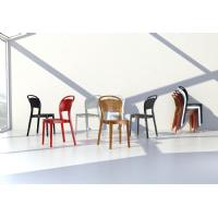 Bee Polycarbonate Dining Chair Glossy Black ISP021-GBLA - 12
