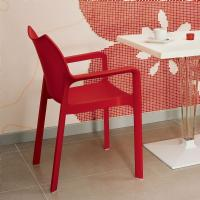 Diva Resin Outdoor Dining Arm Chair Red ISP028-RED - 2