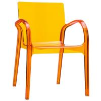Dejavu Polycarbonate Arm Chair Transparent Orange