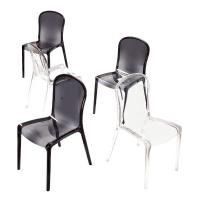 Victoria Polycarbonate Modern Dining Chair Transparent Gray ISP033-TGRY - 5
