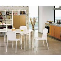 Victoria Polycarbonate Modern Dining Chair Transparent Gray ISP033-TGRY - 16