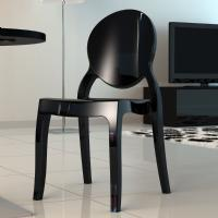 Elizabeth Polycarbonate Dining Chair Glossy Black ISP034-GBLA - 1