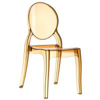 Elizabeth Polycarbonate Dining Chair Amber ISP034-TAMB