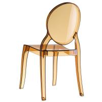 Elizabeth Polycarbonate Dining Chair Amber ISP034-TAMB - 1