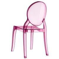 Elizabeth Polycarbonate Dining Chair Pink ISP034-TPNK - 1