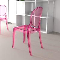 Elizabeth Polycarbonate Dining Chair Pink ISP034-TPNK - 3
