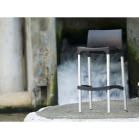 Gio Resin Outdoor Barstool Black ISP035-BLA - 4