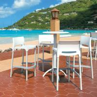Gio Resin Outdoor Barstool White ISP035-WHI - 11