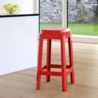 Fox Polycarbonate Counter Stool Glossy Red ISP036-GRED - 1