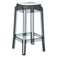 Fox Polycarbonate Counter Stool Transparent Black