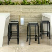 Fox Polycarbonate Counter Stool Transparent Black ISP036-TBLA - 1