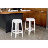 Fox Polycarbonate Counter Stool Transparent Black ISP036-TBLA - 6