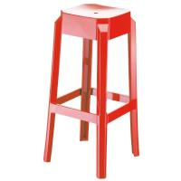 Fox Polycarbonate Barstool Glossy Red