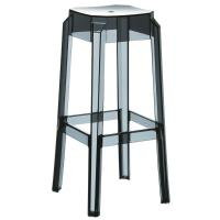 Fox Polycarbonate Barstool Transparent Black