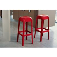 Fox Polycarbonate Barstool Glossy Red ISP037-GRED - 3