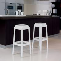 Fox Polycarbonate Barstool Glossy Red ISP037-GRED - 4