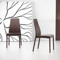 Miranda High-Back Dining Chair Brown ISP039-BRW - 5