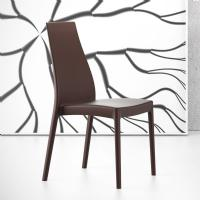 Miranda High-Back Dining Chair Brown ISP039-BRW - 6