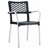 Bella Dining Arm Chair Anthracite