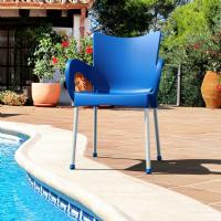 Romeo Resin Dining Arm Chair Blue ISP043-DBL - 1