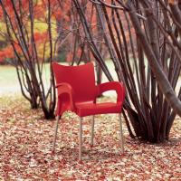 Romeo Resin Dining Arm Chair Red ISP043-RED - 1