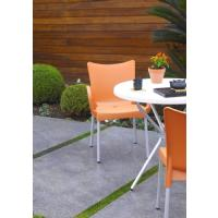 Romeo Resin Dining Arm Chair Orange ISP043-ORA - 7