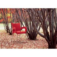 Romeo Resin Dining Arm Chair Red ISP043-RED - 7