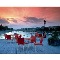 Juliette Resin Dining Chair Orange ISP045-ORA - 8