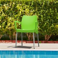 Dolce Resin Outdoor Arm Chair Apple Green ISP047-APP - 1