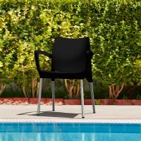 Dolce Resin Outdoor Armchair Black ISP047-BLA - 2