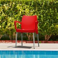 Dolce Resin Outdoor Armchair Red ISP047-RED - 1