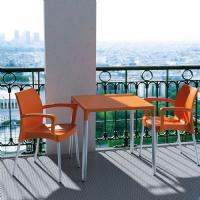 Dolce Resin Outdoor Armchair Orange ISP047-ORA - 6