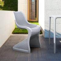 Bloom Modern Dining Chair Silver Gray ISP048-SIL - 5