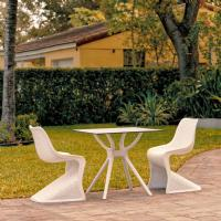 Bloom Dining Set with 2 Chairs White