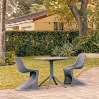 Bloom Patio Dining Set with 2 Chairs Dark Gray
