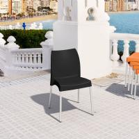 Vita Resin Outdoor Dining Chair Black ISP049-BLA - 1