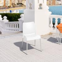 Vita Resin Outdoor Dining Chair White ISP049-WHI - 3