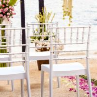 Josephine Wedding Chair White ISP050-WHI - 5