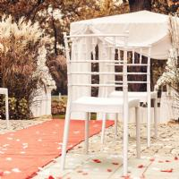 Josephine Wedding Chair White ISP050-WHI - 6