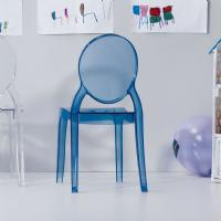 Baby Elizabeth Kids Chair Transparent Blue ISP051-TBLU - 7