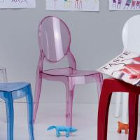 Baby Elizabeth Kids Chair Transparent Pink ISP051-TPNK - 6