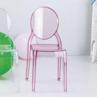 Baby Elizabeth Kids Chair Transparent Pink ISP051-TPNK - 7