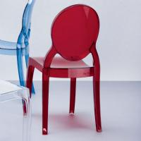 Baby Elizabeth Kids Chair Transparent Red ISP051-TRED - 5