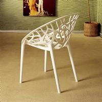 Crystal Polycarbonate Modern Dining Chair Glossy White ISP052-GWHI - 4