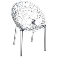 Crystal Polycarbonate Modern Dining Chair Transparent