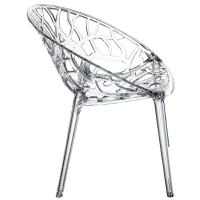 Crystal Polycarbonate Modern Dining Chair Transparent ISP052-TCL - 1