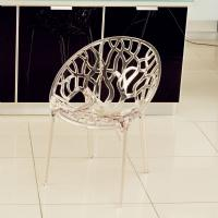 Crystal Polycarbonate Modern Dining Chair Transparent ISP052-TCL - 3