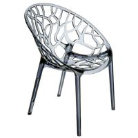 Crystal Polycarbonate Modern Dining Chair Transparent Smoke Gray ISP052-TGRY - 1