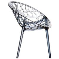 Crystal Polycarbonate Modern Dining Chair Transparent Smoke Gray ISP052-TGRY - 2